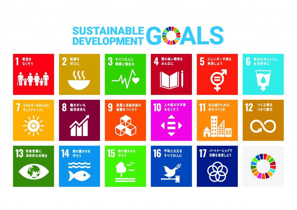 SDGsポスター(17のアイコン 日本語版)