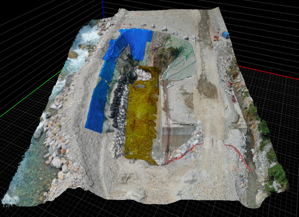 画像(レーザースキャナー岩線計測)